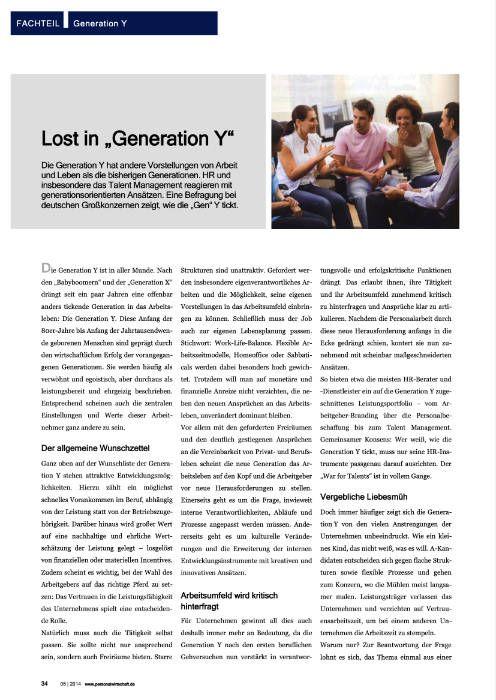 "Medien Vocatus WordPerfect GmbH München: Lost in ""Generation Y"""