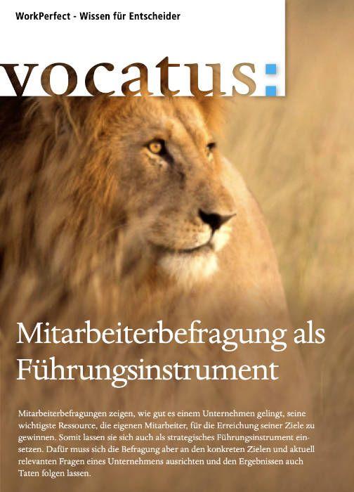 Medien Vocatus WordPerfect GmbH München: Mitarbeiterbefragung als Führungsinstrument.
