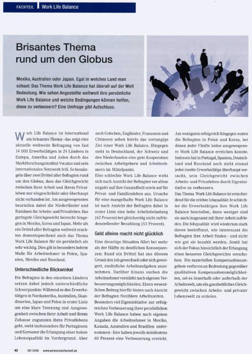 Medien Vocatus WordPerfect GmbH München: Brisantes Thema rund um den Globus.